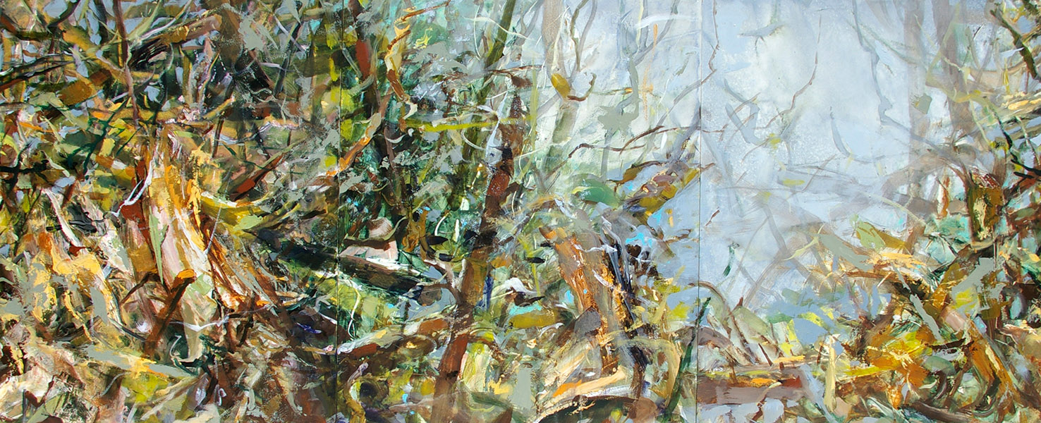 "Thicket II, 20 x 48"", 2011"